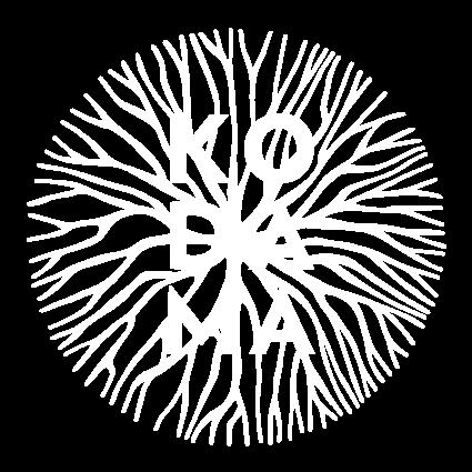 Logo Kodama élément graphique - blanc monochrome opacité 50